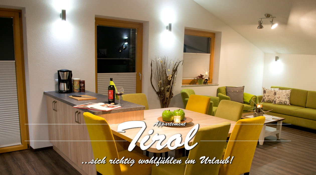 Ferienwohnung Appartment Tirol - Titelbild Küche