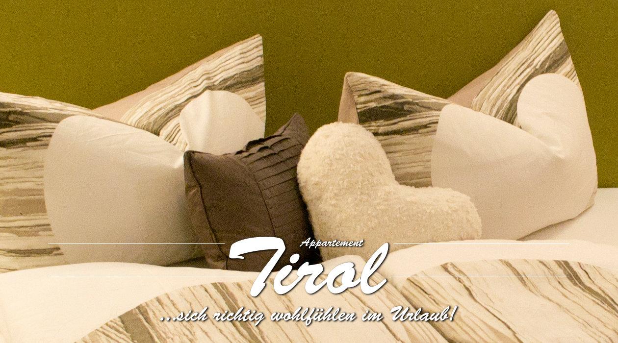 Ferienwohnung Appartment Tirol - Titelbild Detail Schlafzimmer