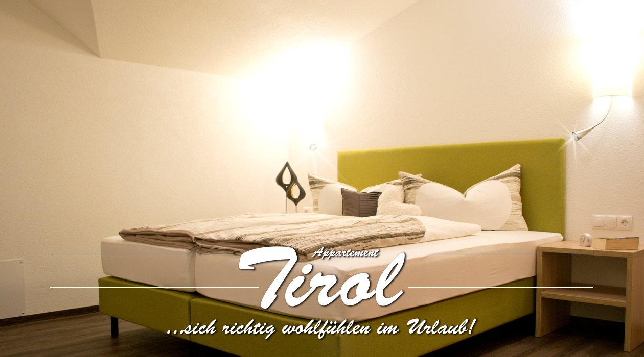 Ferienwohnung Appartment Tirol - Titelbild Schlafzimmer Ansicht
