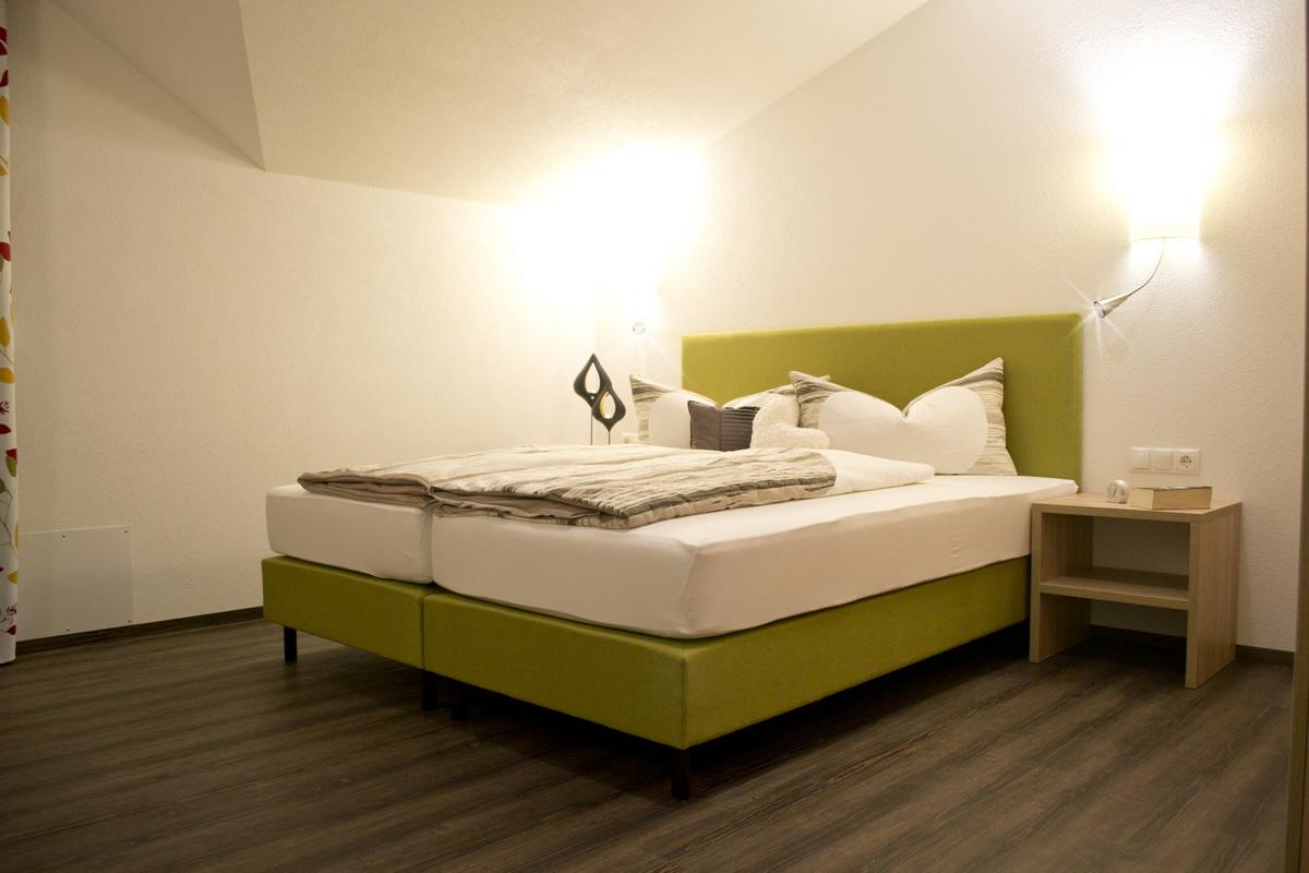 Ansicht des Schlafzimmers im Appartement Tirol