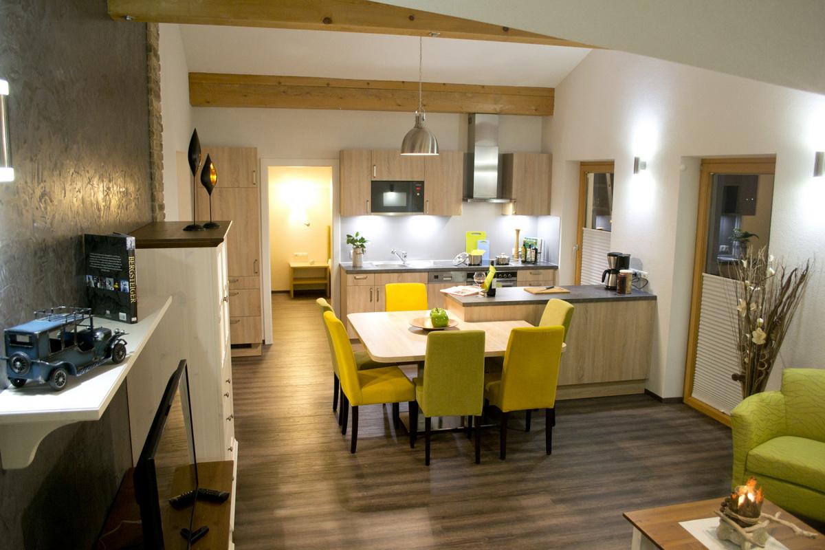 Ansicht der Küche in der Ferienwohnung